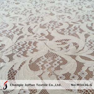 Fashion Cotton Apparel Lace Fabric (M3436-G) pictures & photos