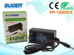 Suoer Universal 12V 2A Good Quality Power Adapter (FP-1202C2) pictures & photos