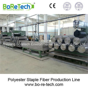 Polyester Staple Fiber Production Line / Recycling Equipment Machine pictures & photos