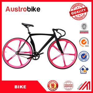700c Flipflop with 80mm Rim Fixed Gear Bike Red Black Yellow 70 mm 30 mm pictures & photos