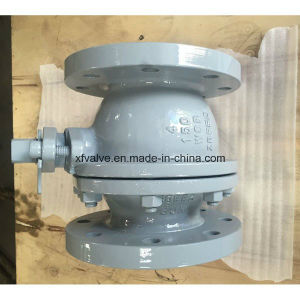 150lb/300lb Cast Steel Wcb Floating Type Flange End Ball Valve pictures & photos