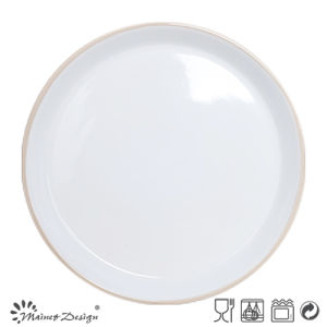 27cm Ceramic Plate Two Tone Round Shape pictures & photos