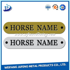 Customized Anodized Steel Stamping Nameplate with Laser Engraved pictures & photos