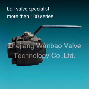 3PC High Pressure Forged Steel Ball Valve 800lb pictures & photos