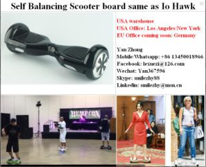 USA Germany Shing Self-Balancing Electric Skateboard From China Factory pictures & photos