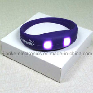LED Blinking Party Bracelets with Logo Print (4010)