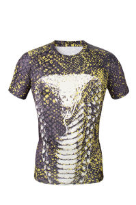 Compression T-Shirt Cobra Printing Shirt for Men Sports Wear (AKJSY-2015046) pictures & photos