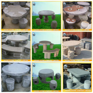 Garden Stone Table and Chairs in Stock pictures & photos