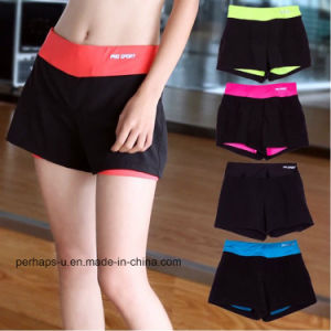 High Quality Quick Drying Fitness Clothes Yoga Running Shorts pictures & photos