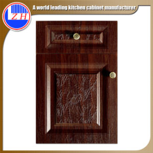 Embossed New Style PVC Kitchen Cabinet Door (customzied) pictures & photos
