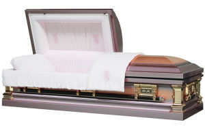 Rose Copper Casket for USA Market pictures & photos