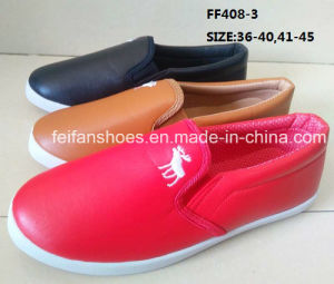 New Design Injection Slip-on Casual Shoes Flat Shoes Runnig Shoes (FF408-3) pictures & photos