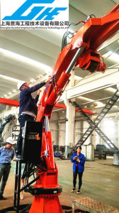 Telescopic Boom Hydraulic Marine Crane 5t 8t pictures & photos