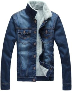 Fashion Men′s Warm Winter Slim Denim Jacket
