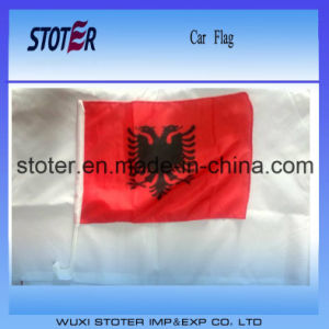 Custom Polyester Albania Car Window Flag pictures & photos