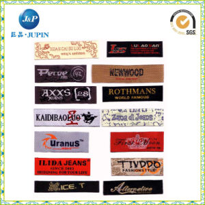Satin Woven Label/Damask Woven Logo/Adhesive Woven Clothing Labels (JP-CL116) pictures & photos