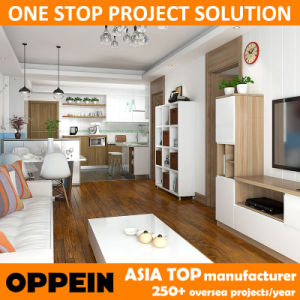 Free Design Apartment Project Wood Grain Living Room Furniture (OP15-HOUSE4) pictures & photos