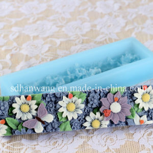 D0027 Large Handmade Flowers Shape Loaf Silicone Soap Molds