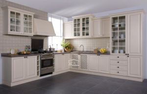 Tempered Glass Kitchen Cabinets pictures & photos