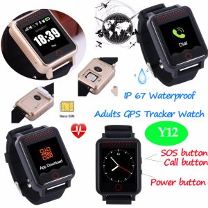 1.54 TFT Touch Screen Waterproof Elderly GPS Tracker Watch Y12 pictures & photos