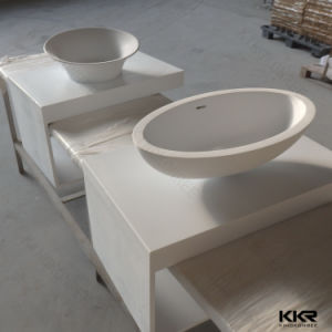Wholesale Artificial Marble Stone Bathroom Wash Basin (171108) pictures & photos