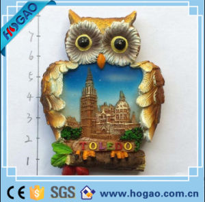 Polyresin Resin Flatback Hand Painted Owl Magnet pictures & photos