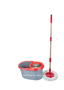 Hand Press Spin Mop with Steel Basket Bucket (SL-S016)