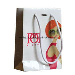 Rope Handle Styled Custom Printing Paper Bag for Cosmetics pictures & photos