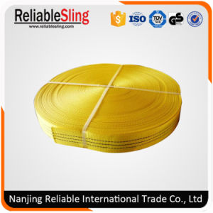 75mm Polyester Flat Semi-Finished Webbing Sling Belt pictures & photos