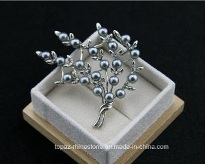 Appearl Accessories European Fashion Rhinestone Alloy Pearl Brooch (TB-014 black diamond) pictures & photos