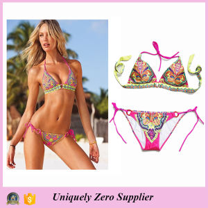 Hot Sale Stylewomen Lady Adult Sexy Floral Print Bikini Women Swimwear 2016 pictures & photos
