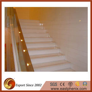 White Crystallized Glass Stone Stair pictures & photos