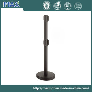 2m Black Powder Coated Double Belt Stanchion pictures & photos