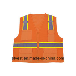 Mesh High Visibility Reflective Safety Vest pictures & photos