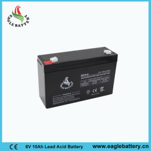 6V 10ah VRLA Rechargeable Lead Acid Battery for Solar System pictures & photos
