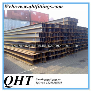 Q235 Q345b 100*100*6*8mm Hot Rolled Steel H Beam pictures & photos