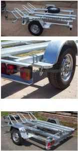 High Quality Light Duty 3 Rail Motorcycle Trailer (CT0302B) pictures & photos