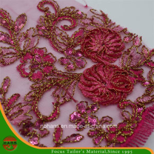Embroidery Polyester Mesh Fabric for Garment (HAEF160014) pictures & photos