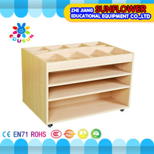 Children Paint Rack, Wooden Toy Cupboard for Preschool