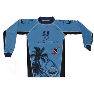 Sublimation Rash Guard/Custom Long Sleeve Compression Top/MMA Top