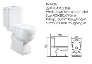 Sanitary Ware Washdown Two Piece Toilet (87007) pictures & photos