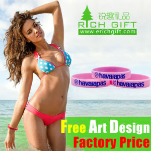 Promotional Gift 1 Inch Width Custom Silicone Wristband pictures & photos