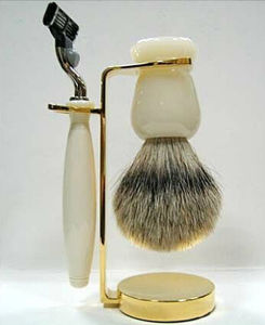 Newest Hair Safety Razor with Shaving Brush Set pictures & photos