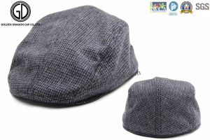 Winter Plaid Flat Gatsby Hat IVY Cap with Earflap pictures & photos