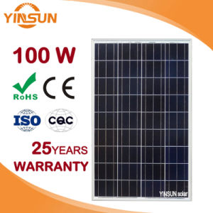 100W Polycrystalline Solar Panel for Home Solar Power System PV pictures & photos