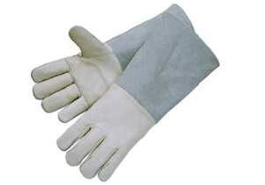 Cow Grain Leather Double Palm Welding Work Glove pictures & photos