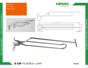 Single Prong Metal Display Pegboard Hook pictures & photos