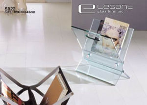 X Shape Hot-Bending Glass End Table Qualified by SGS pictures & photos
