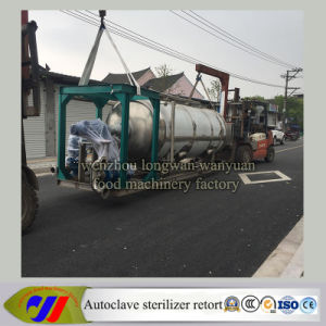 Double Tank Rotary Autoclave Sterilizer Retort with Hot Water Spray pictures & photos
