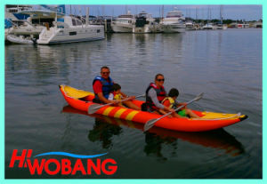 Gas Powered PVC Kayak with Paddles for Sale pictures & photos